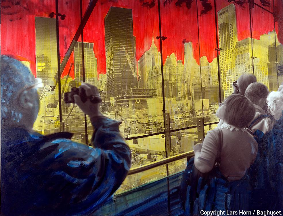 NYC in Colors.  Horn/Andersen<br /> Ground Zero I100x130Kr.   12.500,-<br /> Foto: © Lars Horn / Baghuset<br /> Date : 15.07.13