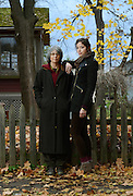 Lynne Jackier, 56, is encouraging her daughter, Rosie Simon, 24, to obtain her own healthcare, and discuss her options at the family's home in Ithaca, NY, Sunday, November 10, 2013.<br /> (Heather Ainsworth for The New York Times)