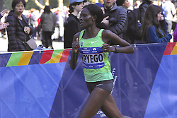 November 6, 2016 - New York, New York, U.S - SALLY KPYEGO of Kenya, age 30 and a 2012 Olympic silver medalist in the 10,000 meters, competes in the New York City Marathon today. She would finish second in 2:28:01. (Credit Image: © Staton Rabin via ZUMA Wire)