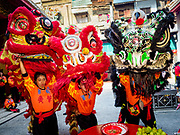 05 FEBRUARY 2019 - BANGKOK, THAILAND:  Chinese New Year celebrations in Bangkok started on February 4, 2019, although the city's official celebration is February 5 - 6. The coming year will be the Year of the Pig in the Chinese zodiac. About 14% of Thais are of Chinese ancestry and Lunar New Year, also called Chinese New Year or Tet is widely celebrated in Chinese communities in Thailand.       PHOTO BY JACK KURTZ