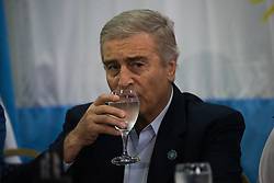 November 17, 2018 - Buenos Aires, Argentina - Argentine's Defense Minister Oscar Aguad during a press conference in Buenos Aires, Argentina, Saturday, Nov. 17, 2018. 366 days after of the Ara San Juan submarine missing, the Argentine's navy announced early this saturday that the company Ocean Infinity found the submarine's remains at 900 meters under the sea. (Credit Image: © Mario De Fina/NurPhoto via ZUMA Press)