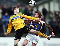 Fotball . 25. april 2010 , Adeccoligaen , 1. divisjon<br /> Mjøndalen - Moss 1-3<br /> Kevin Nicol  , Moss og Martin Rønning , MIF