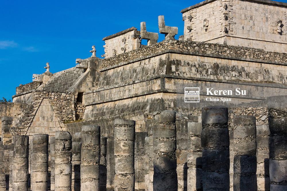 Columns at Temple of the Warriors, Chichen Itza, Yucatan, Mexico
