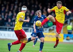 Dundee's Paul McGowan and Partick Thistle's Ryan Williamson. Dundee 1 v 3 Partick Thistle, Scottish Championship game player 19/10/2019 at Dundee stadium Dens Park.