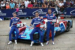 June 11, 2018 - Le Mans, FRANCE - 12 SMP RACING (RUS) BR ENGINEERING BR1 AER STEPHANE SARRAZIN (FRA) EGOR ORUDZHEV (RUS) MALEVOS ISAAKYAN (RUS) #11 SMP RACING (RUS) BR ENGINEERING BR1 AER VITALY PETROV (RUS) MIKHAIL ALESHIN (RUS) JENSON BUTTON  (Credit Image: © Panoramic via ZUMA Press)