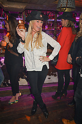 DENISE VAN OUTEN at a party to celebrate the opening of Beaver Lodge, a new bar & club from the Inception Group at 266 Fulham Road, London SW10 on 4th December 2014.