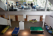 The entertainment commons, below, at in the SUNY New Paltz Atrium on Monday, Sept. 13, 2010.