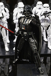 September 29, 2018 - Tokyo, Japan - Action figures of Darth Vader and the Stormtroopers on display during the 58th All Japan Model and Hobby Show in Tokyo Big Sight. The annual exhibition introduces hobby goods such as plastic models, action figures, drones and airsoft guns from September 28 to 30. (Credit Image: © Rodrigo Reyes Marin/ZUMA Wire)