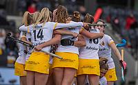 AMSTELVEEN - Frederique Matla (DenBosch) heeft de stand op 1-1 gebracht   tijdens de halve finale wedstrijd dames EURO HOCKEY LEAGUE (EHL),  Amsterdam-HC Den Bosch. (1-1) Den Bosch wint shoot outs en plaats zich voor de finale.  COPYRIGHT  KOEN SUYK