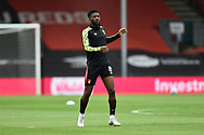 Jefferson Lerma (8) of AFC Bournemouth warming up ahead of the EFL Sky Bet Championship match between Bournemouth and Stoke City at the Vitality Stadium, Bournemouth, England on 8 May 2021.