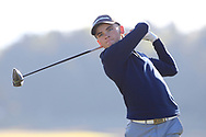 Rory Milne (Faithlegg) on the 2nd tee during Round 2 of the Ulster Boys Championship at Donegal Golf Club, Murvagh, Donegal, Co Donegal on Thursday 25th April 2019.<br /> Picture:  Thos Caffrey / www.golffile.ie