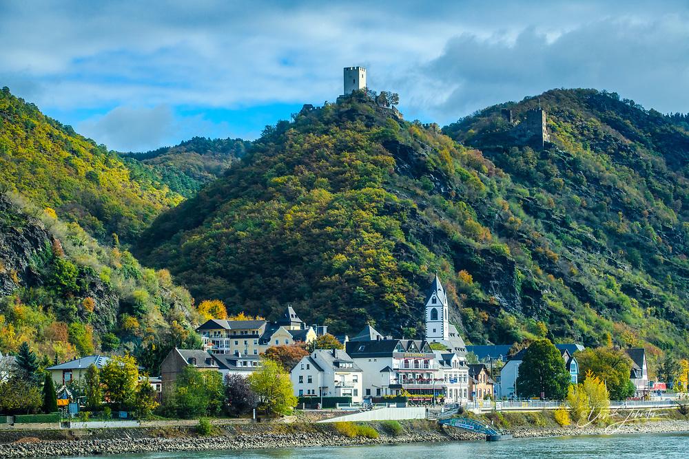 Middle Rheine scenic cruise- Castle Sterren-berg, Kamp-Bornhofen, Rhineland-Palatinate, Germany