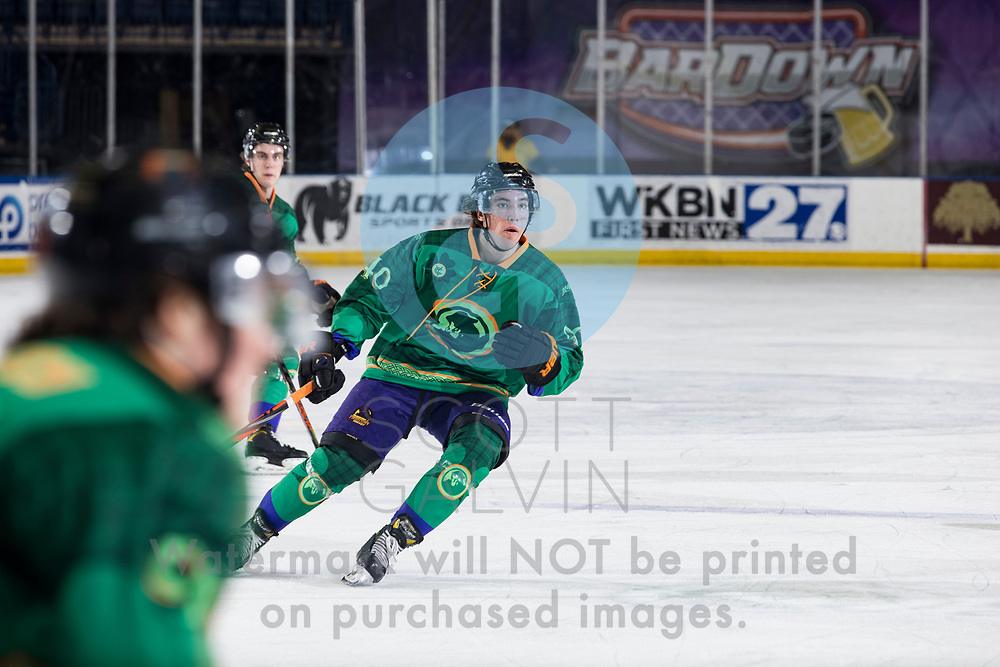 Youngstown Phantoms lose 5-4 to the Dubuque Fighting Saints at the Covelli Centre on March 13, 2021.<br /> <br /> Jaden Grant, forward, 40