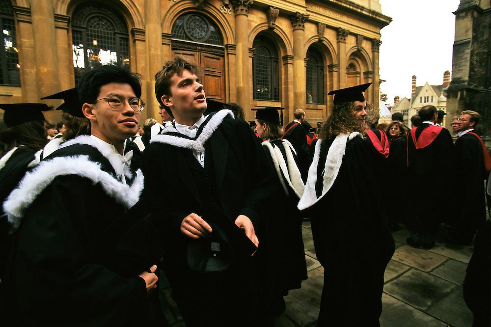 Graduating students at Oxford University.