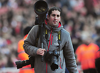 Football - 2016 / 2017 Premier League - Arsenal vs. Burnley<br /> <br /> Arsenal Photographer , David Price at The Emirates.<br /> He previously worked at Colorsport<br /> <br /> COLORSPORT/ANDREW COWIE