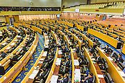 21 AUGUST 2014 - BANGKOK, THAILAND:        The Thai National Legislative Assembly (NLA) meets Thursday at the parliament in Bangkok to select a new Prime Minster. The NLA was hand selected by the Thai junta, formally called the National Council for Peace and Order (NCPO), and is supposed to guide Thailand back to civilian rule after a military coup overthrew the elected government in May. The NLA unanimously selected General Prayuth Chan-ocha, commander of the Thai Armed Forces and leader of the coup in May that deposed the elected civilian government, as Prime Minister. Prayuth is Thailand's 29th Prime Minister since the 1932 coup that created Thailand's constitutional monarchy.    PHOTO BY JACK KURTZ