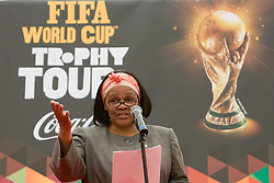Titi Molaba, Minister Counsellor at South African Permanent Mission,   International Affairs, Embassy, Wien, Austria at VIP reception of FIFA World Cup Trophy Tour by Coca-Cola, on March 29, 2010, in BTC City, Ljubljana, Slovenia.  (Photo by Vid Ponikvar / Sportida)