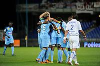 FOOTBALL - FRENCH CHAMPIONSHIP 2010/2011 - L1 - AJ AUXERRE v STADE BRESTOIS - 21/05/2011 - PHOTO ALAIN GADOFFRE / DPPI - JOY SB29 AFTER LARSEN TOURE'S GOAL