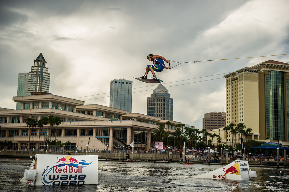 Nick Davies performs  at RedBull Wake Open in Tampa, Florida on July 13th, 2012.