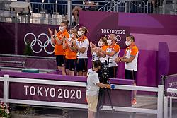 Team Netherlands, Gal Edward, Werner Nicole, Van Silfhout Alex<br /> Olympic Games Tokyo 2021<br /> © Hippo Foto - Dirk Caremans<br /> 28/07/2021