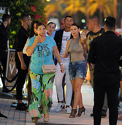 Cristiano Ronaldo with his girlfriend Georgina Rodriguez and his mother Maria Dolores dos Santos leave dinner in Ibiza. 09 Jul 2017 Pictured: Criatiano Ronaldo, Georgina Rodriguez. Photo credit: MEGA TheMegaAgency.com +1 888 505 6342