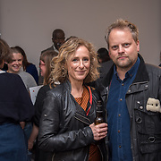 Guest attend the Art On The Mind - Private view of an exhibition and auction which benefits homeless charity, Cardboard Citizens.