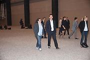 AMANDA SHARP; MATTHEW SLOTOVER, Ai Weiwei Unilever series opening. Tate Modern. 11 October 2010. -DO NOT ARCHIVE-© Copyright Photograph by Dafydd Jones. 248 Clapham Rd. London SW9 0PZ. Tel 0207 820 0771. www.dafjones.com.