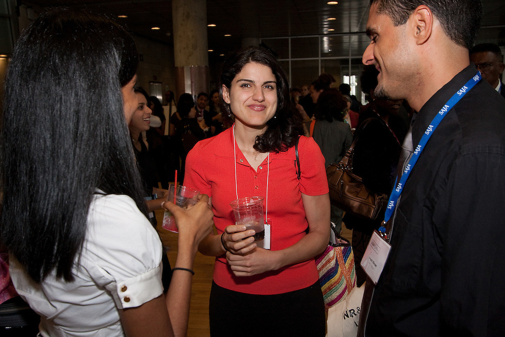 NY1 reporter Lily Jamali at the reception at Columbia University for the 2009 SAJA Convention