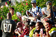 January 30 2016: Hall of Famer Jerry Rice signs autographs before the last Pro Bowl practice at Turtle Bay Resort on Oahu, HI. (Photo by Aric Becker/Icon Sportswire)