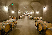 Underground wine caves at Staglin Family Estate Winery near Rutherford, in California's Napa Valley wine growing region