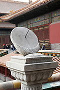 China, Beijing, The Imperial Palace in the Forbidden City Marble sundial