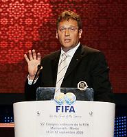 Fotball<br /> FIFA-kongressen i Marrakesch<br /> 12.09.2005<br /> Foto: imago/Digitalsport<br /> NORWAY ONLY<br /> <br /> FIFA Marketing und TV Direktor Jerome Valcke (Frankreich) hält während des 55. FIFA Kongresses 2005 in Marrakesch eine Ansprache