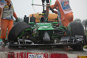 March 29, 2014 - Sepang, Malaysia. Malaysian Formula One Grand Prix. Caterham F1 crash during qualifying. <br /> <br /> © Jamey Price / James Moy Photography