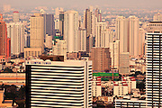 Mar 31, 2010 - BANGKOK, THAILAND: The city of Bangkok spreads out beneath the Moon Bar, atop the Banyon Tree Hotel in Bangkok. The bar is one of the highest points in Bangkok and is 61 floors above street level, about 650 feet (200 meters).  PHOTO BY JACK KURTZ