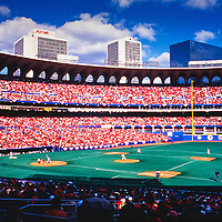 Busch Memorial Stadium during the 1987 National League Championship Series with the San Francisco Giants vs St Louis Cardinals.