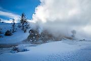 Mammoth Hot Springs in winter