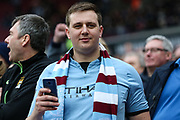 A Manchester City fan during the Premier League match between West Ham United and Manchester City at the London Stadium, London, England on 29 April 2018. Picture by Toyin Oshodi.