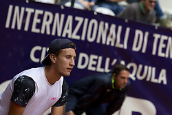 June 18, 2018 - L'Aquila, Italy - Renzo Olivo during match between Renzo Olivo (ARG) and Bernabe Zapata Miralles (ESP) during day 3 at the Internazionali di Tennis Citt dell'Aquila (ATP Challenger L'Aquila) in L'Aquila, Italy, on June 18, 2018. (Credit Image: © Manuel Romano/NurPhoto via ZUMA Press)