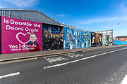 A mural wall pictured in Divis Street, West Belfast on Thursday, April 22, 2021,   pay tribute to NHS (National Health Service) workers and encourages people to register in organ donation following their death. (Photo/ Vudi Xhymshiti)