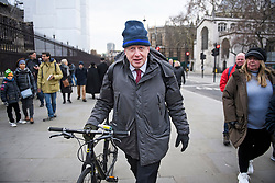 © Licensed to London News Pictures. 10/12/2018. London, UK. Former Foreign Secretary BORIS JOHNSON is seen arriving at The Houses Of Parliament, as pressure mounts of British Prime Minister Theresa May ahead of a crucial vote on the Brexit deal expected to take place on Tuesday. Photo credit: Ben Cawthra/LNP