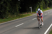 UK, Chelmsford, 28 June 2009: ANDREW SHAW (V) ESSEX ROADS CC V completed the E9 / 25 course in 1 hour 2 mins 54 secs. Images from the Chelmer Cycle Club's Open Time Trial Event on the E9 / 25 course. Photo by Peter Horrell / http://peterhorrell.com .