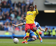 Odion Jude Ighalo during the Sky Bet Championship match between Brighton and Hove Albion and Watford at the American Express Community Stadium, Brighton and Hove, England on 25 April 2015.