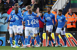 Ivan Toney of Peterborough United celebrates scoring his goal with team-mates - Mandatory by-line: Joe Dent/JMP - 14/12/2019 - FOOTBALL - Weston Homes Stadium - Peterborough, England - Peterborough United v Bolton Wanderers - Sky Bet League One