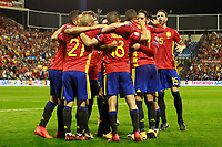 Spain's players celebrate goal during FIFA World Cup 2018 Qualifying Round match. October 6,2017.(ALTERPHOTOS/Acero)
