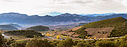 Maury. Roussillon. Spectacular view over the mountains. France. Europe. Mountains in the background.