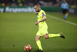 February 20, 2019 - Lyon, France - Jordi Alba during the UEFA Champions League round of 16 first leg football match between Lyon (OL) and FC Barcelona on February 19, 2019, at the Groupama Stadium in Decines-Charpieu, central-eastern France. (Credit Image: © Mehdi Taamallah/NurPhoto via ZUMA Press)