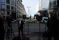 June 4, 2017 - London, England, United Kingdom - Police cordon off the area around London Bridge Borough Market on 4 June 2017 where terrorists killed three people and insured many more on Saturdy night. (Credit Image: © Jay Shaw Baker/NurPhoto via ZUMA Press)