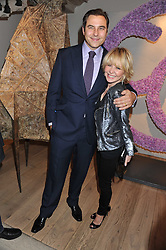 LULU and DAVID WALLIAMS at a reception to celebrate the publication of Candy and Candy: The Art of Design held at the Halcyon Gallery, 24 Bruton Street, London W1 on 26th October 2011.