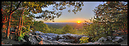 Panoramic photograph of spectacular view of Blue Ridge Mountains in Virginia.  Print Size (in inches): 15x5.5; 24x8.5; 36x13; 40x14; 48x17; 60x21.5; 72x26