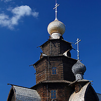 Europe, Russia, Suzdal. Transfiguration Church at the Museum of Wooden Architecture and Peasant Life.